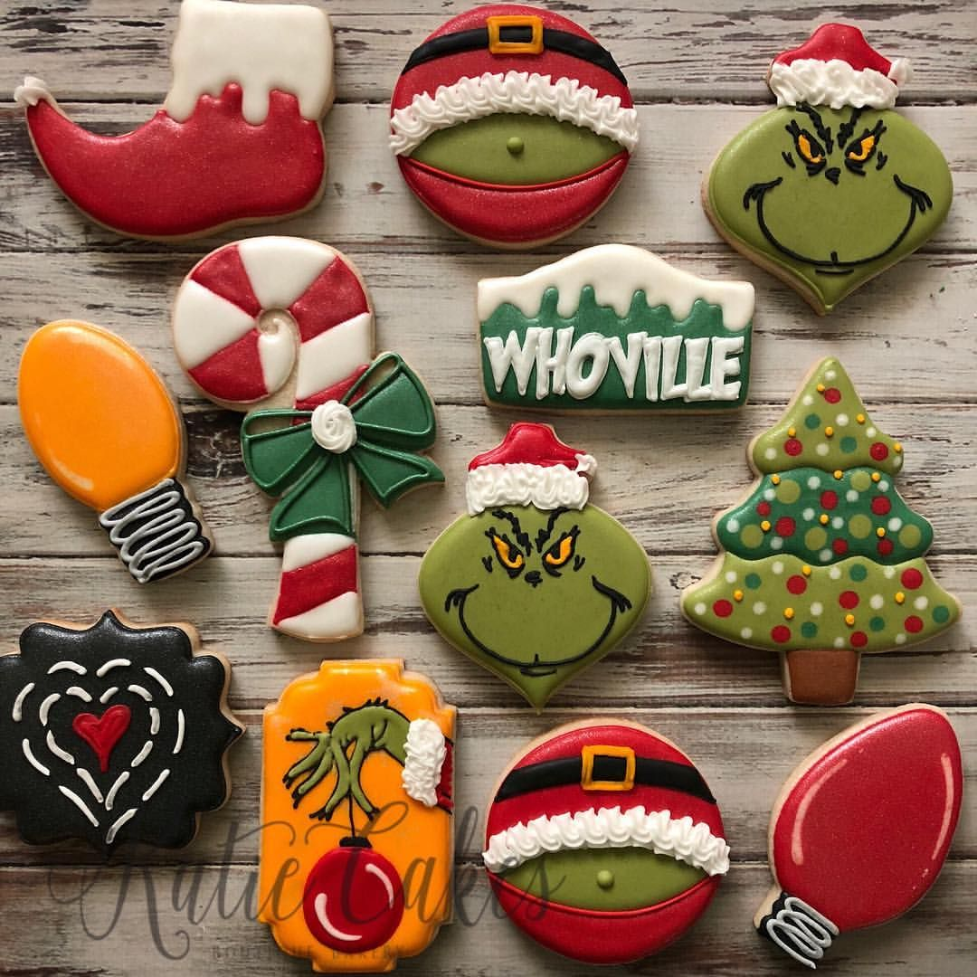"Katie Mentink on Instagram: ""Set #3 - Merry Grinchmas! $40 sold as pictured - please message me on my Facebook page to be added to the Christmas list - KatieCakes…"""