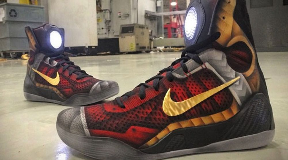 factory price a1ff0 b264b These Custom  Iron Man  Nike Kobes Really Have an Arc Reactor