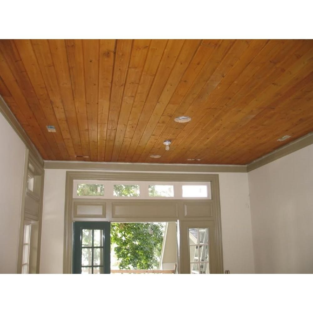 1 In X 4 In X 8 Ft Knotty Cedar Tongue And Groove Siding 6 Pack 148wrctg6pk The Home Depot Basement Ceiling Wood Siding Exterior Colored Ceiling