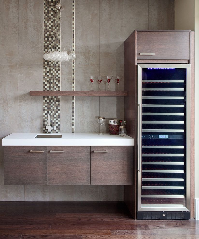 Wet Bar Ideas Gallery: Modern Wet Bar Home Bar Contemporary With Glass Chandelier