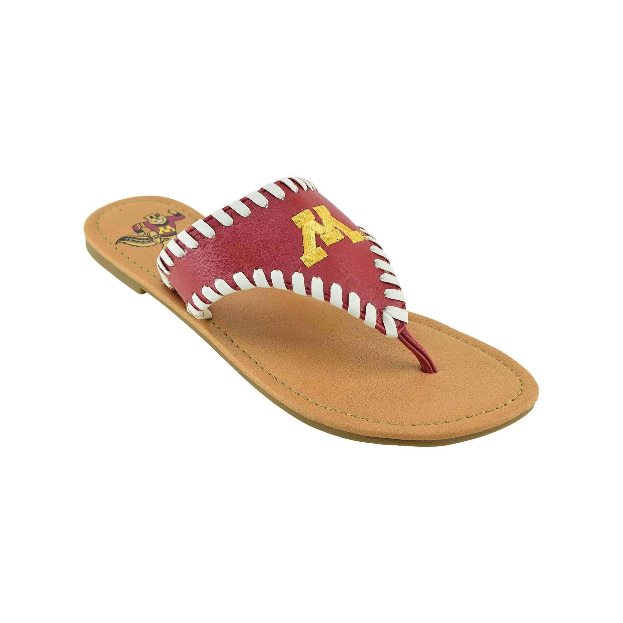 Women's Minnesota Golden ... Gophers Flip Flops sale nicekicks X4Wks3bCf