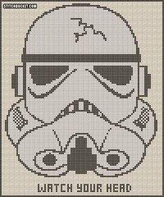 Stormtrooper Cross Stitch Pattern by StitchBucket on Etsy