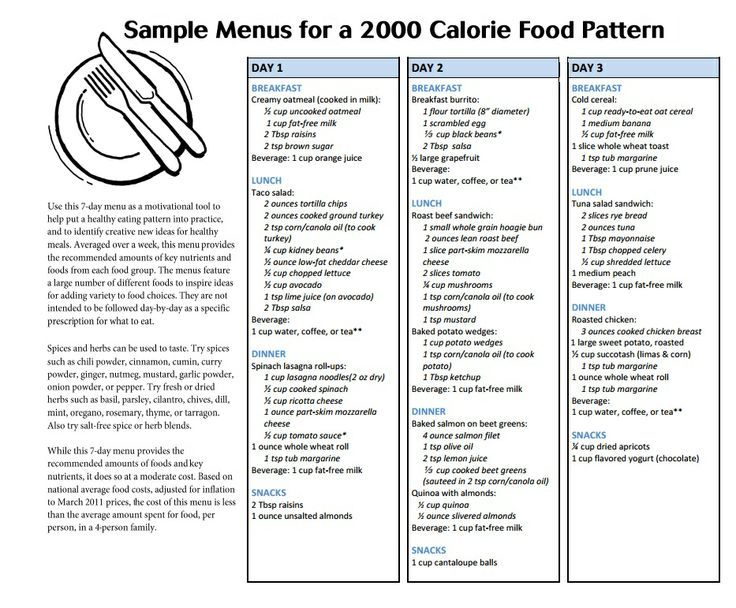 Calorie Eating Plan  Google Search   Calories A Day