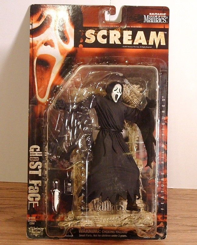 Scream Ghost Face Figure Movie Maniacs Scary Horror Doll