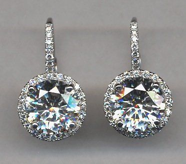 Diamond Drop Earrings Earing Jewelry Ice