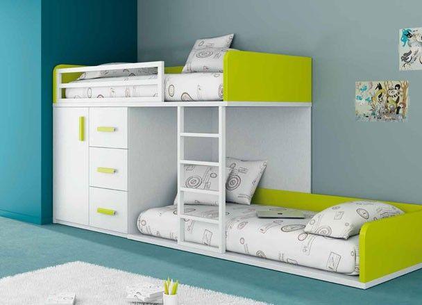 Habitación Juvenil Con Litera Tren Baja Camas Room Bedroom Y