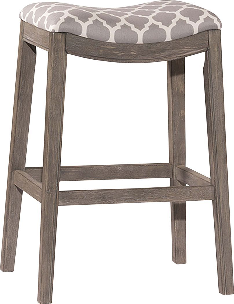 Yarnell Gray Counter Height Stool Saddle Seat Bar Stool Backless Stools Hillsdale Furniture