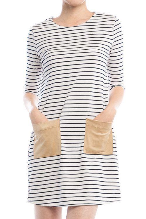 Suede Pocket Dress