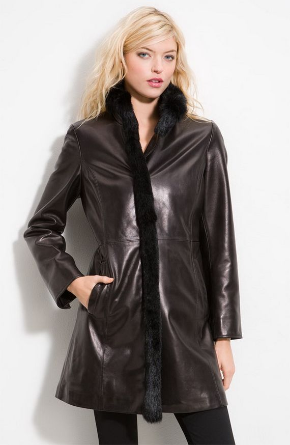 Leather Women'S Coats