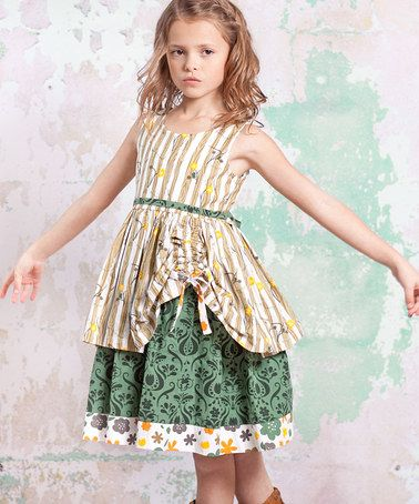 be1980d3f73 Loving this Green   Tan Monaco Tenley Dress - Infant
