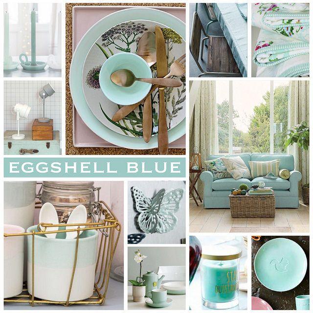 Duck Egg Living Room, Blue, Color Trends