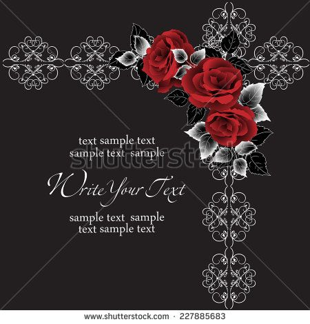 Roses. Vector invitations, frames, patterns, textiles http://www.shutterstock.com/cat.mhtml?gallery_id=734809