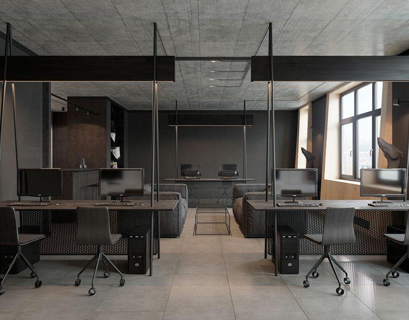 Richmond The Minimalist Flat In The Scandinavian Style On Behance Office Interior Design Modern Office Design Office Furniture Modern