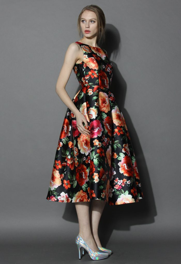 Exotic Amorous Floral Prom Dress - Floral - Dress - Retro, Indie and Unique Fashion