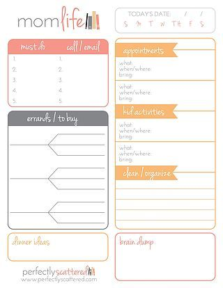 free printable daily planner for moms money saving mom get