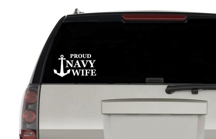 Navy Wife Car Or Truck Window Decal Sticker Walmart Com Walmart Com