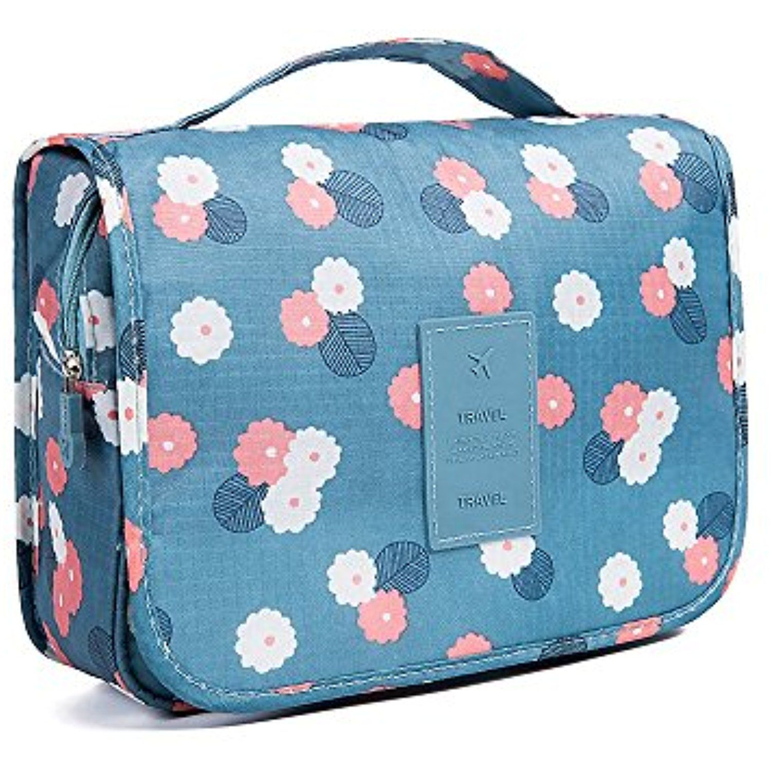 QMARK Hanging Cosmetic Travel Bag Organizer with Zipper Portable ...
