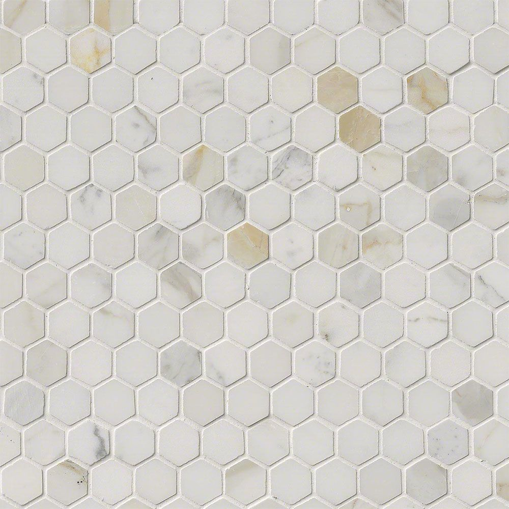 - Grout Color For Calacatta Gold Hex Marble Tile MS International