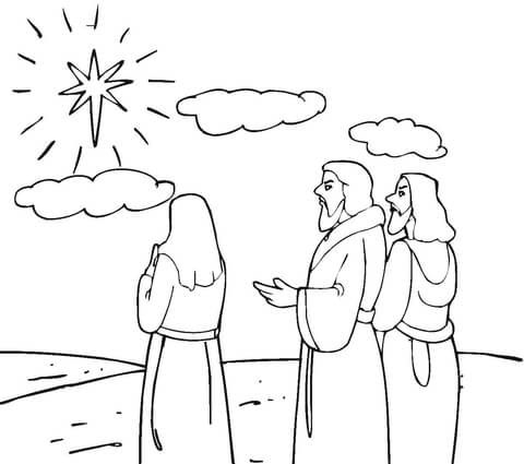 Star Of Bethlehem Coloring Page Star Coloring Pages Coloring