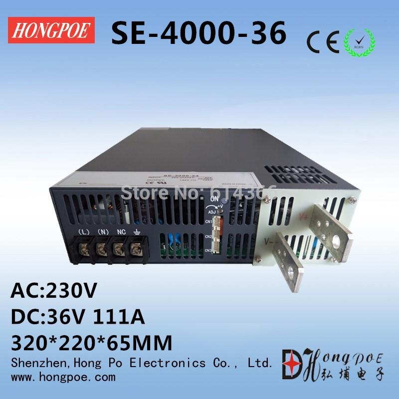 (644.79$)  Watch here - http://aiznv.worlditems.win/all/product.php?id=32658926086 - 4000W 36V 111A DC 0-36v power supply  36V 111A AC-DC High-Power PSU 0-5V analog signal control SE-4000-111