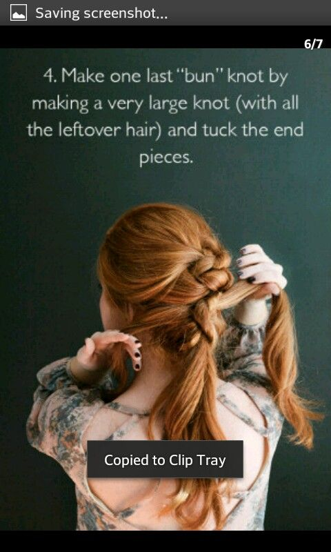 Knot Updo Hairstyle Part Four Diy Hair Styles Pinterest Diy