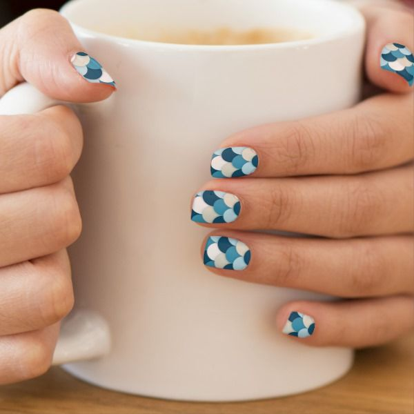 Blue Mermaid Minx Nail Art   Zazzle.com