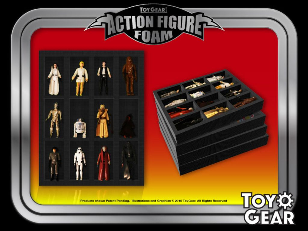 Charmant Action Figure Foam Trays U0026 Storage Cases For Toy Collectors