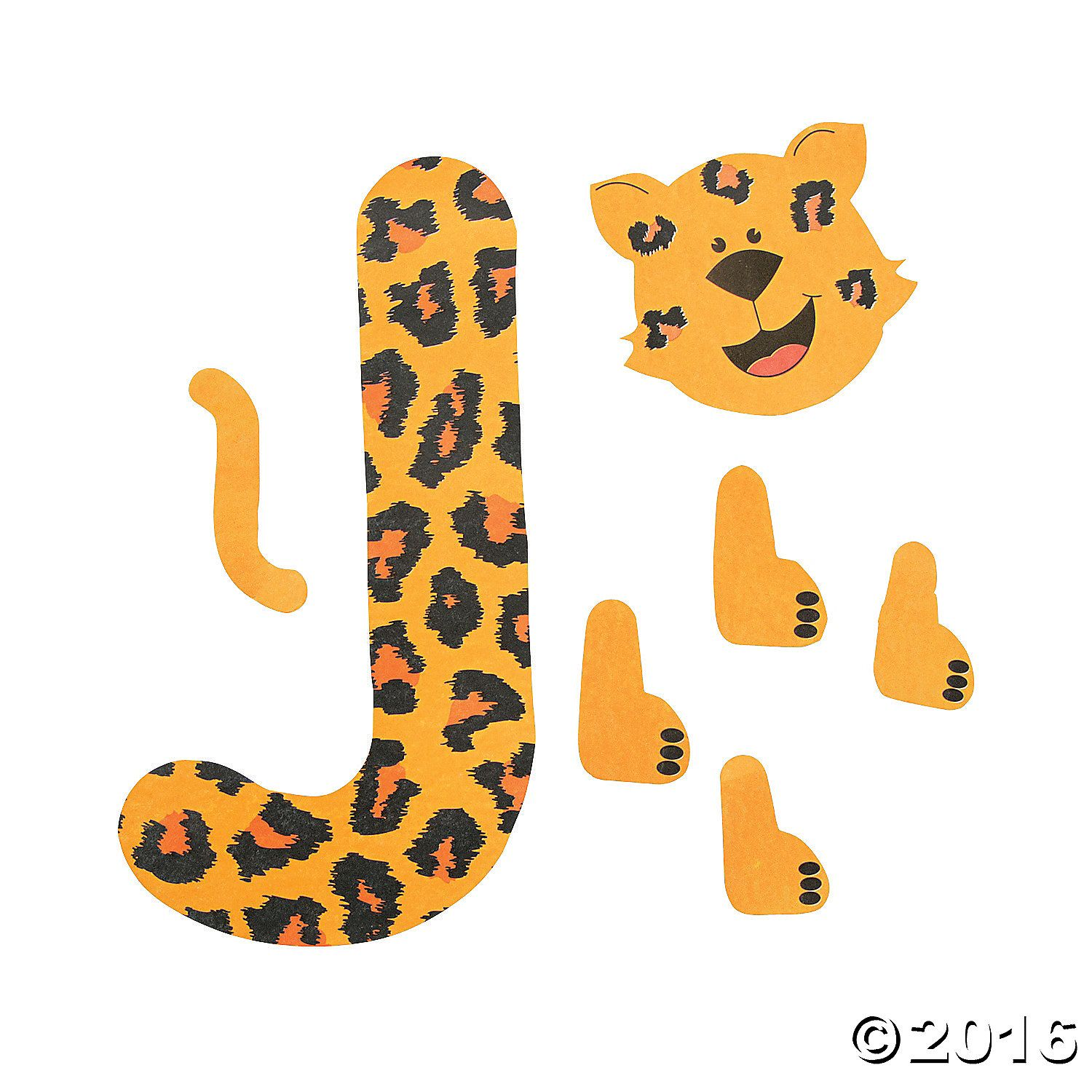 J is for jaguar letter j craft kit 48 8071 a01 1500 1500 for Letter j template preschool