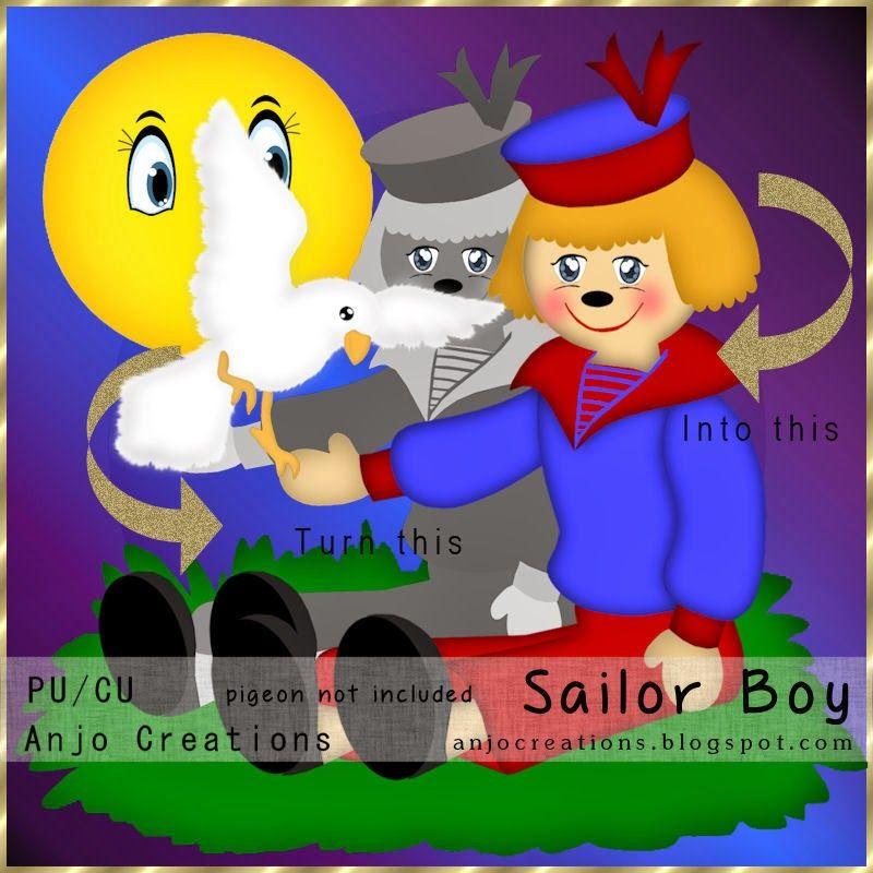 Anjo Creations: CU Sailor Boy Template