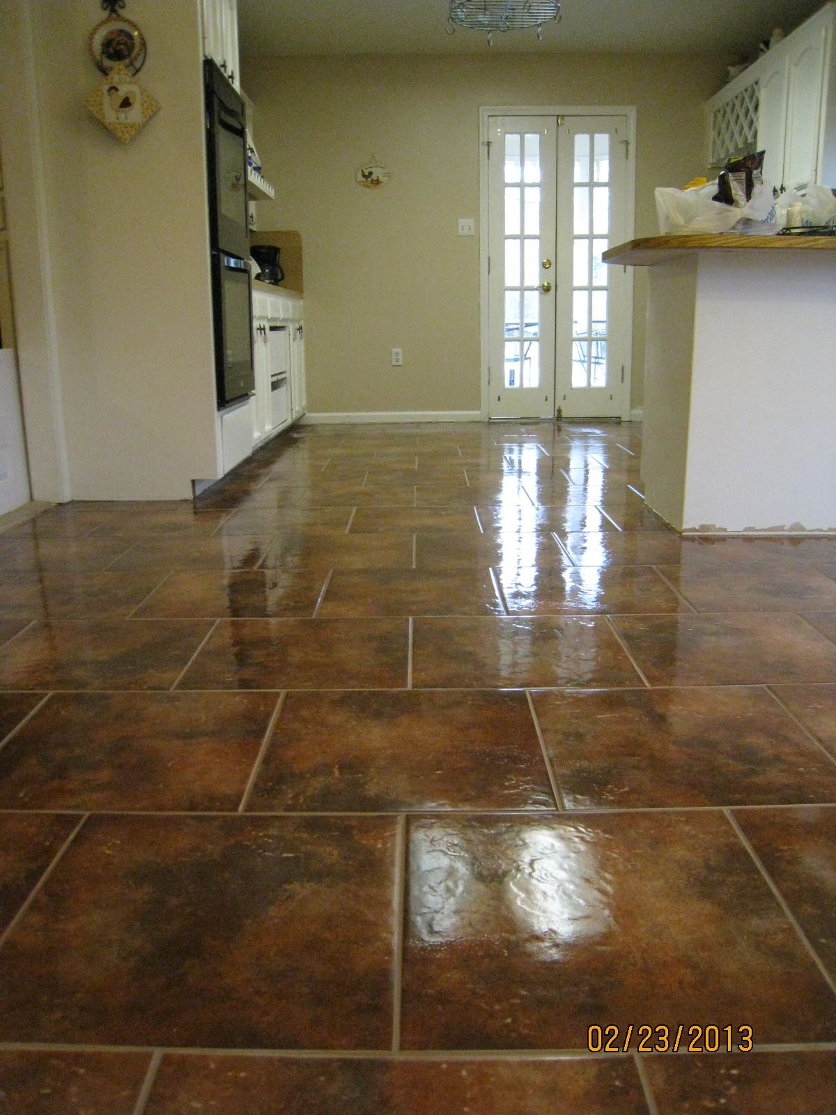 This Is A Picture Of My Kitchen And Dining Room Had My Floors Glamorous Dining Room Tile Inspiration Design
