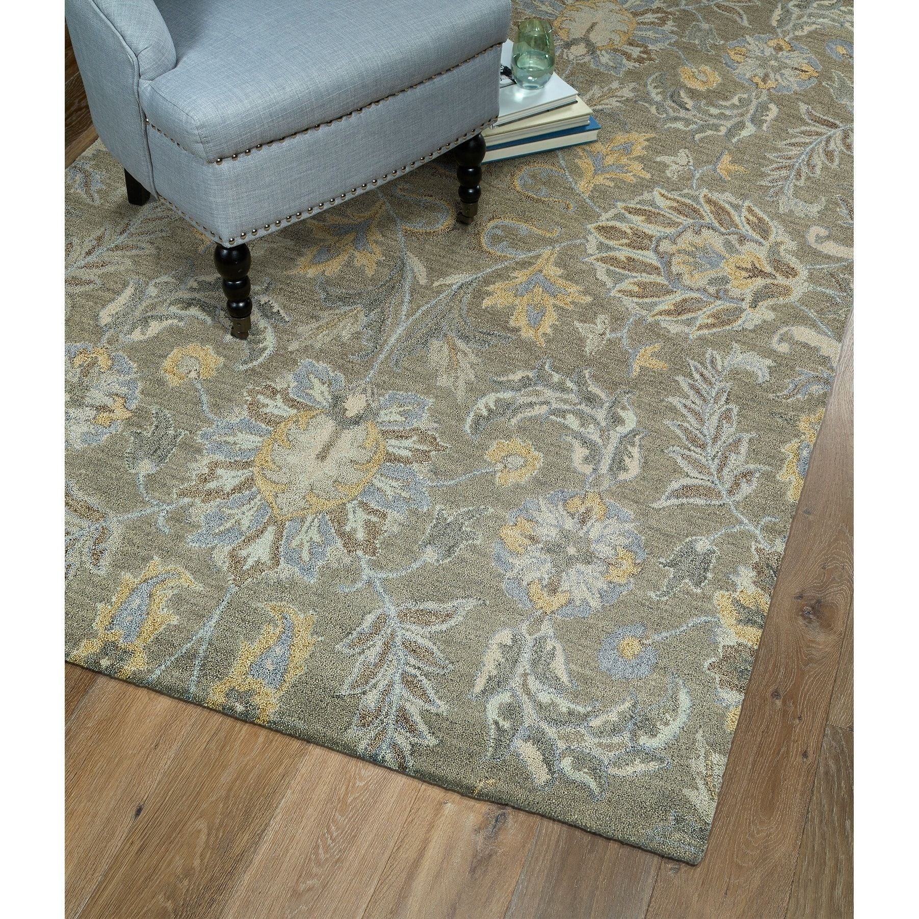Hand Tufted Christopher Sage Wool Rug 12 X 15 Green Bombay