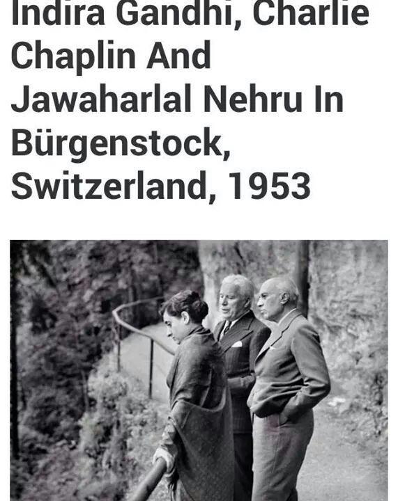 Indira Gandhi Charlie Chaplin And Nehru Indian History Fact Of India Essay In Hindi