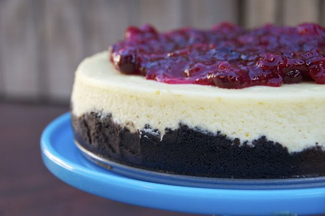 black bottomed orange cranberry cheesecake