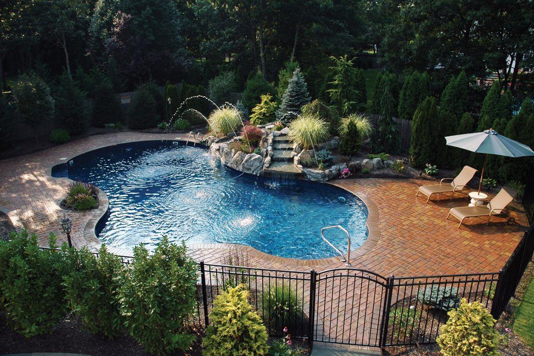 Pin By Ronni Robinson On Hot Tub Pool Sauna Ideas In 2020 Pool Shapes Swimming Pools Backyard Backyard Pool