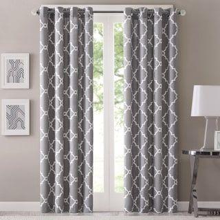 Pattern Window Curtains Endearing Madison Park Westmont Geometric Pattern  Curtain Panel Single. Decorating Design