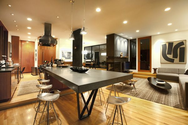 Hoke House Interior Twilight House Contemporary House House Design