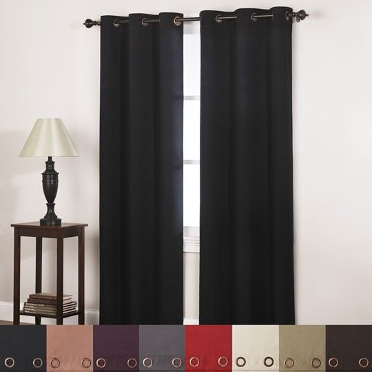 Mckenzie Blackout Grommet Top Window Curtain Gray 1189 Annas Linens Bedroom