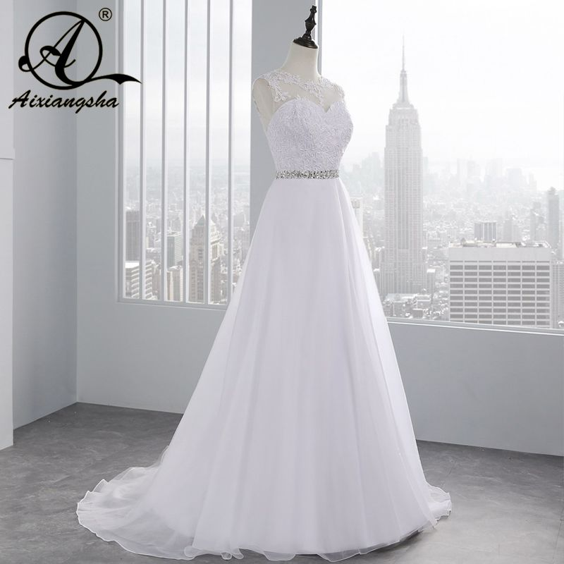 2017 vintage Beach A Line Appliques Beading Lace Wedding Dress See ...