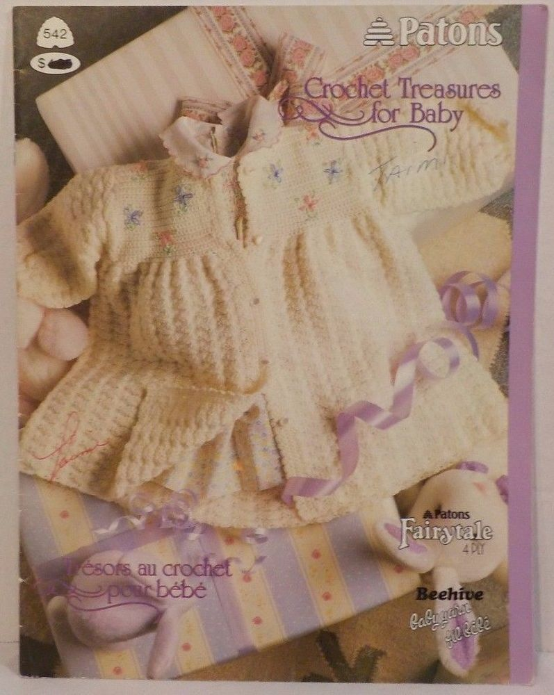 Crochet Treasures For Baby Crochet 6 Patterns vintage #Patons ...