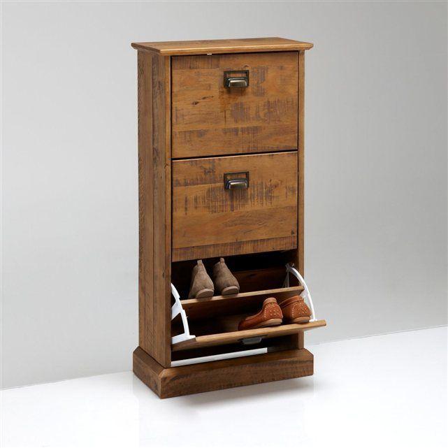 Meuble range chaussures 3 abattants lindley la redoute interieurs maison pinterest - Meuble a chaussures la redoute ...