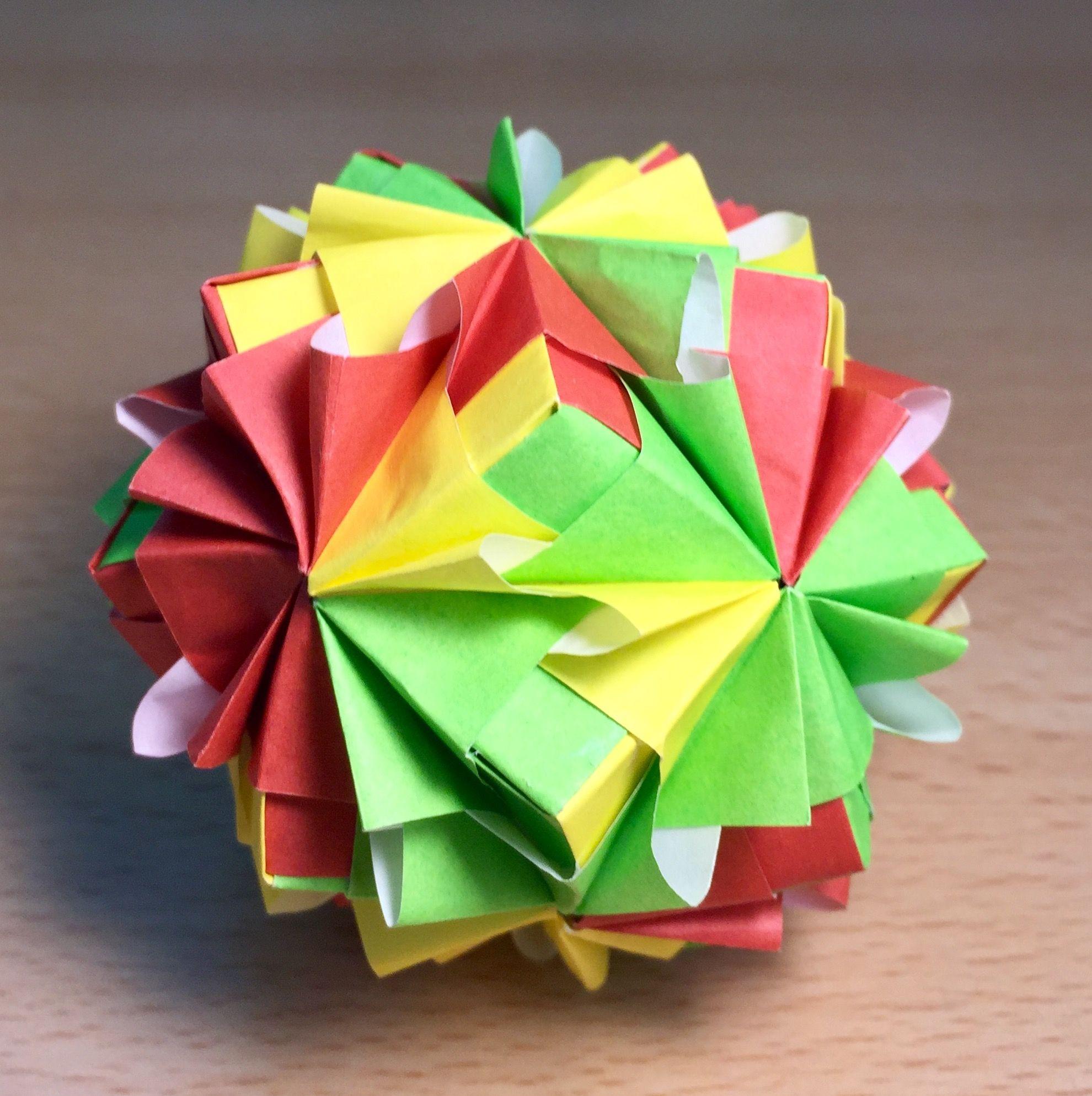 Origami flower ball origami pinterest flower ball and origami origami flower ball mightylinksfo