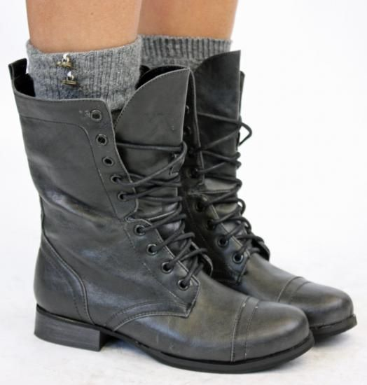 Military boots women army ladies lace worker boots size | Military ...