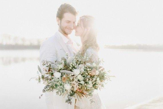 Seaside wedding portraits