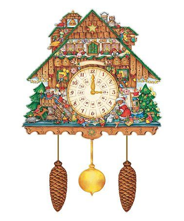 Loving This Black Forest Cuckoo Clock Double Sided Paper Advent On