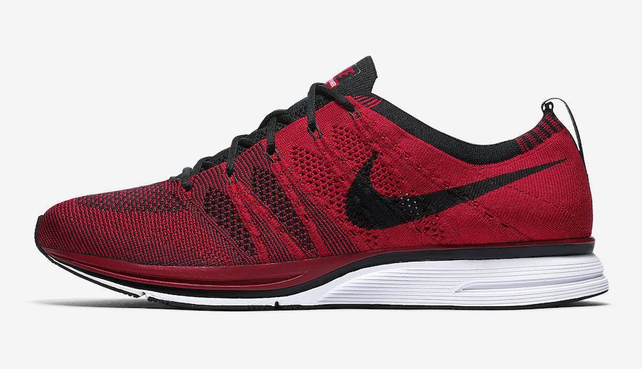 b79599a0d257f Nike Flyknit Trainer Mens Running Shoes University Red Black White  Nike   RunningShoes