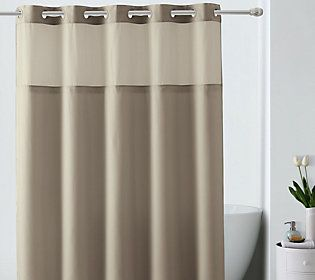 Hookless Jacquard Shower Curtain W Built In Liner Qvc Com