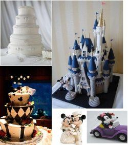 Like the one on the bottom left only in our colors - Disney Weddings: Three Ways To Make It Magical