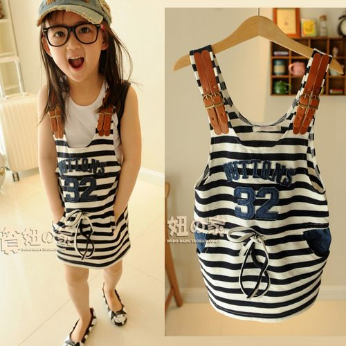 Aliexpress.com : Buy summer girl's stripe braces dress,girl's suspenders dress,free shipping,mb 0598 from Reliable girls fashion dress suppliers on QW Kid's Fashion Clothing Mall. $9.98