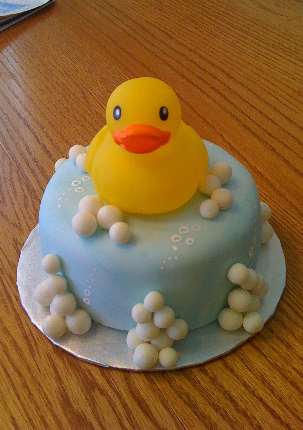 Rubber Ducky Baby Shower Cake With Images Duck Cake Baby