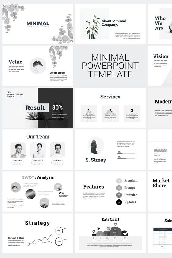 Minimal Clean Business PowerPoint Presentation Template